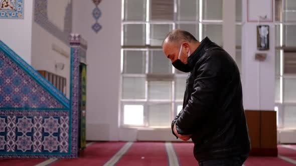 Man Prayer Mosque