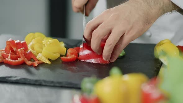 Cover Image for Chef Cooking Healthy Food at Kitchen Restaurant