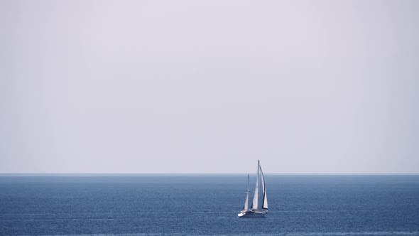 Thumbnail for Waterscape with Sea, Sky and Sailing Yacht