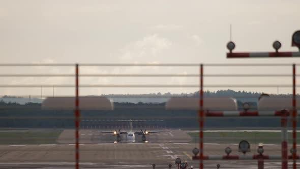 Runway at Dusseldorf Airport