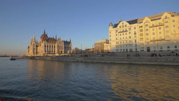 Thumbnail for The Hungarian Parliament Building at sunset
