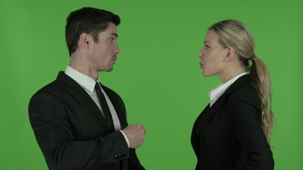 Thumbnail for Angry Male Professional Scolding Female Professional, Chroma Key