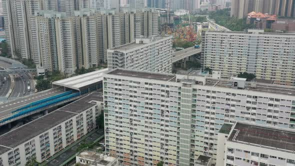 Thumbnail for Top view of Choi Hung estate in Hong Kong
