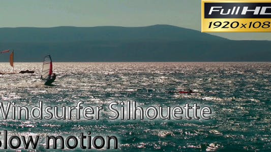 Thumbnail for Windsurfers Silhouette FULL HD