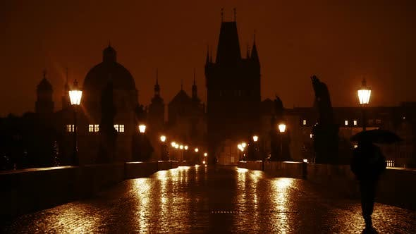 Thumbnail for Night Rain on the Charles Bridge