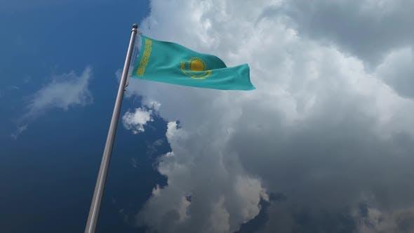 Kazakhstan Flag Waving 2K