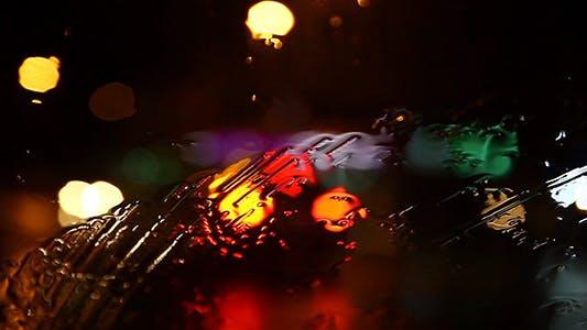 Thumbnail for Rainy Night Traffic Bokeh 2 Full HD