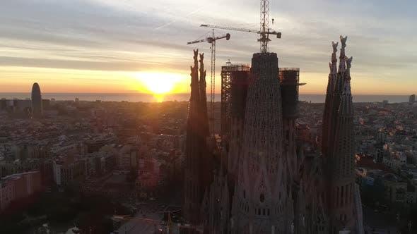 Thumbnail for La Sagrada Familia Cathedral Sunset