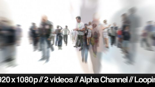 Thumbnail for Isolated Crowd Of People Coming & Going With Alpha