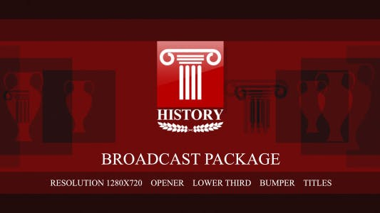 "Thumbnail for ""History"" broadcast package"