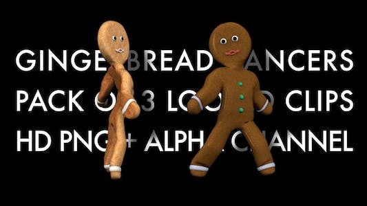 Thumbnail for Gingerbread Dancers - Pack of 3