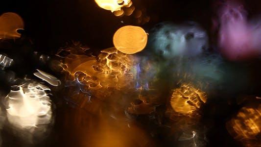 Thumbnail for Regnerisches Nachtlicht Bokeh 4 - Full HD