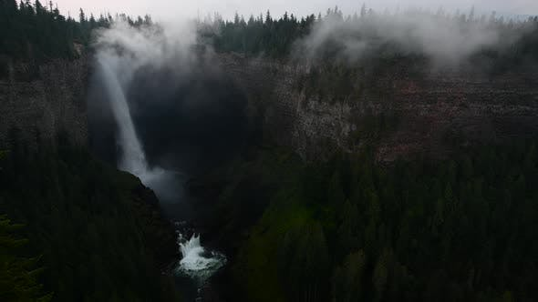Thumbnail for Helmcken Falls Wide Shot Morning Mist