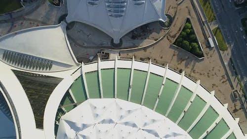 Aérienne du Stade Olympique dans le Parc Olympique