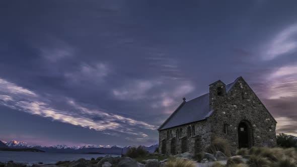 Timelapse of New Zealand iconic church