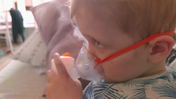 Boy And Steam Inhaler