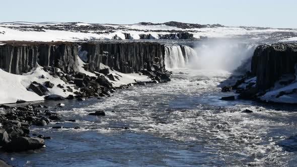Thumbnail for Selfoss Hafragilsfoss in Iceland