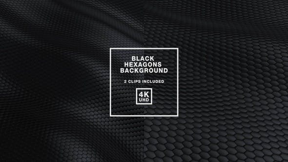 Thumbnail for Black Hexagons Background