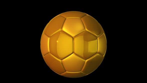 Drehender goldener Fußball