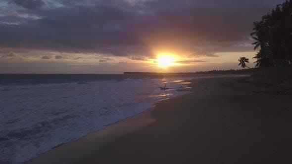 Thumbnail for Sunset Beach 4k