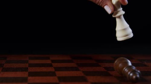 Queen Makes A Move On The Chessboard
