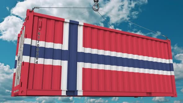 Thumbnail for Container with Flag of Norway