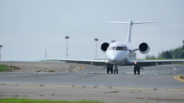 Thumbnail for Business Jet Moves On Camera