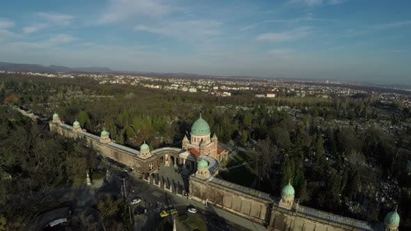 Thumbnail for Aerial view of the Mirogoj Cemetery, Zagreb