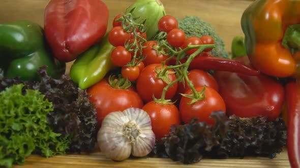 Thumbnail for Various Vegetables on a Wooden Table
