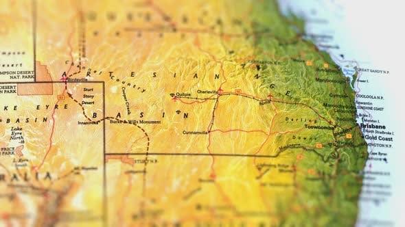 Thumbnail for Australia On Paper Map,Slider Shot