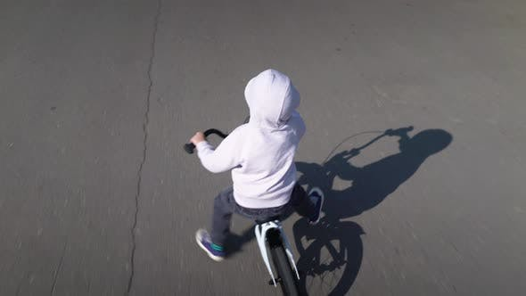 Thumbnail for Cute 3 - 4 Years Boy Child Learning To Ride First Running Balance Bike