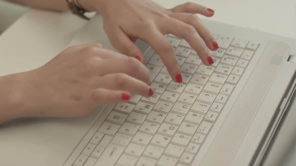 Cover Image for Woman Hands on the Keyboard