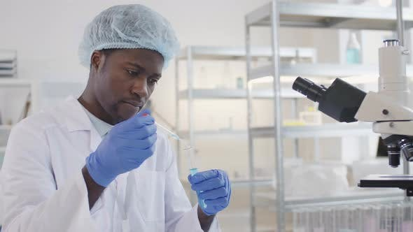Thumbnail for African Scientist in Laboratory