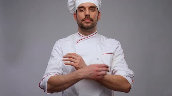 Male Chef in Toque and Jacket