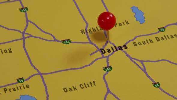 Thumbnail for Dallas Pinned On A Map 01