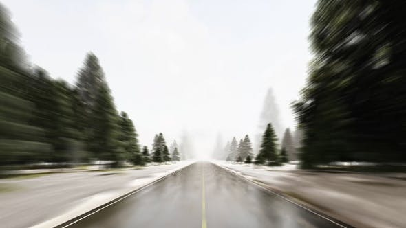 Fast Speed Driving on Dangerous Weather
