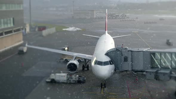 Thumbnail for Cold Winter Snow Weather at Airport
