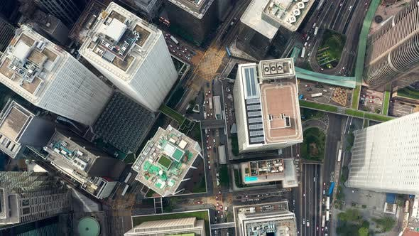 Thumbnail for Hong Kong business office tower from top