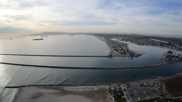 Thumbnail for Alamitos Bay Peninsula Long Beach California Aerial Overhead View