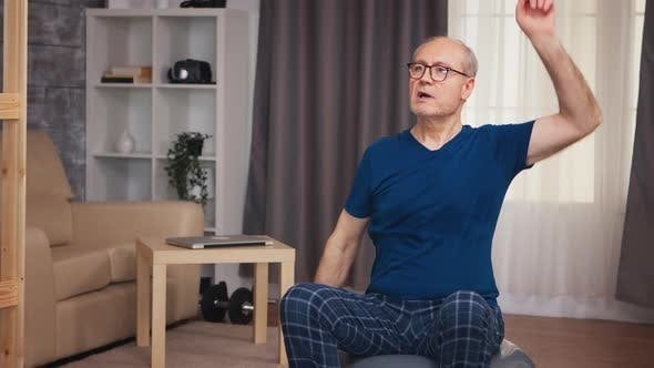 Thumbnail for Grandfather Training on Swiss Ball