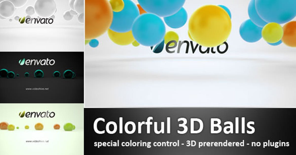 Download Colorful 3D Balls by 3Dspace