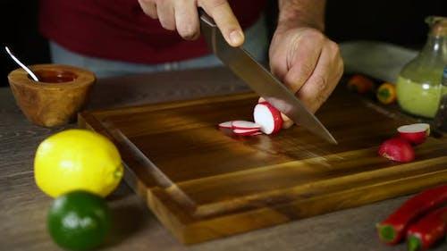 Cutting Radish