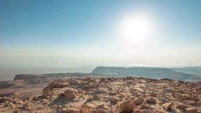 Daytime time-lapse at Masada, Israel