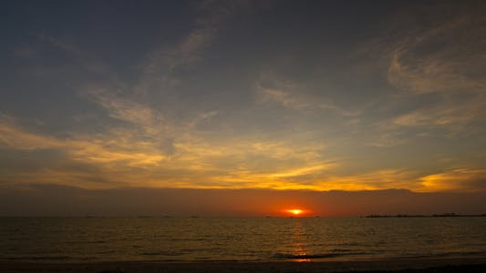 Thumbnail for Sunset At The Beach Time Lapse - 4K Resolution