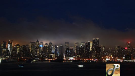 Thumbnail for New York City Night Time Lapse Full HD