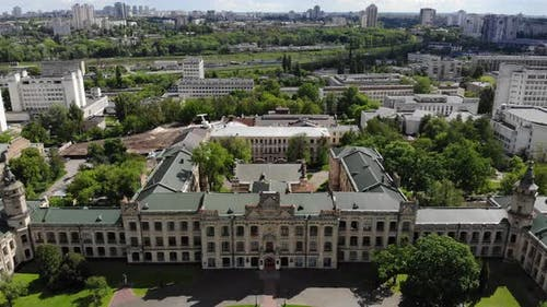 Old University Cityscape Aerial