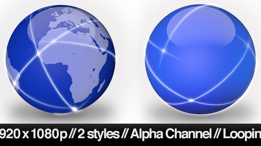 Data Traveling Around Global Network - 2 Styles