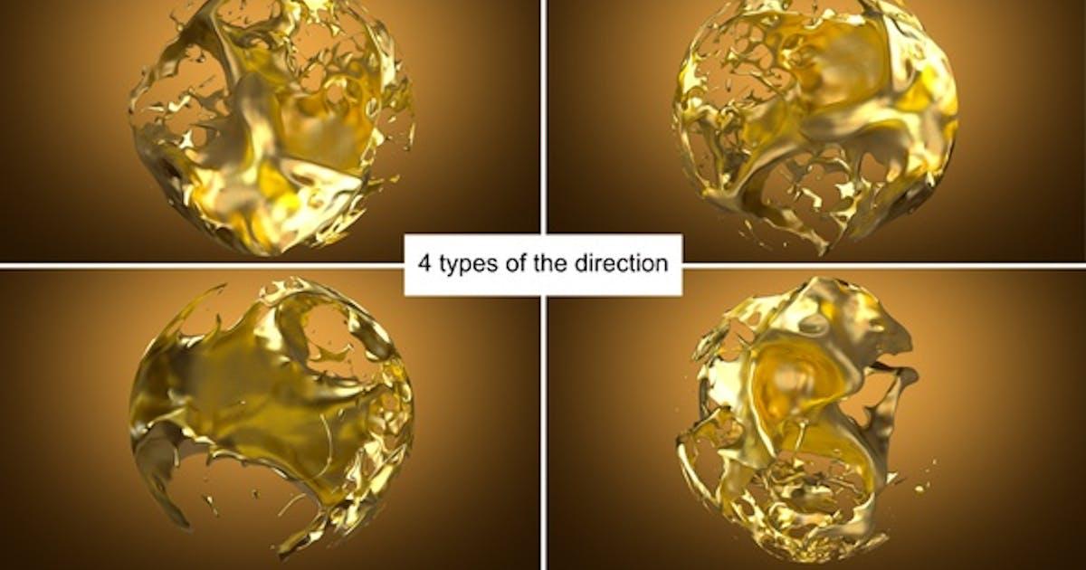 Liquid Gold Sphere Splash Pack
