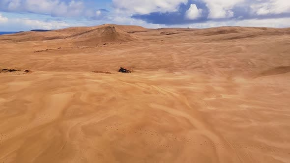 Giant sand dunes in New Zealand