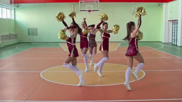 Thumbnail for Girl Cheerleaders Dancing
